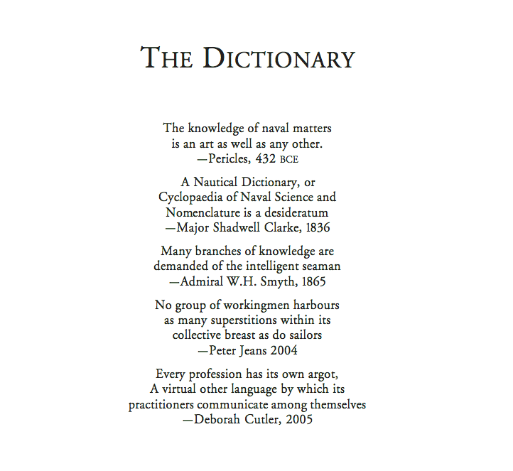 The Seafaring Dictionary